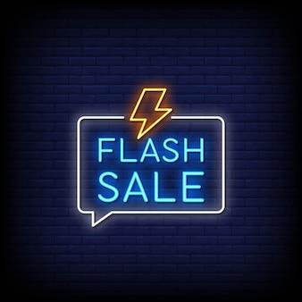 Stile di insegne al neon di vendita flash