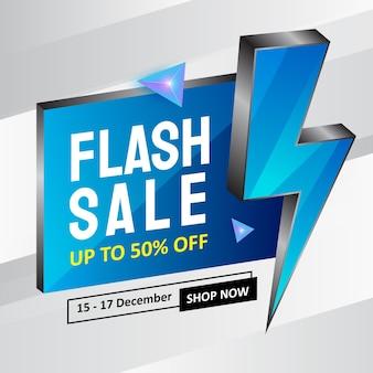 Progettazione del modello di banner di promozione di vendita flash