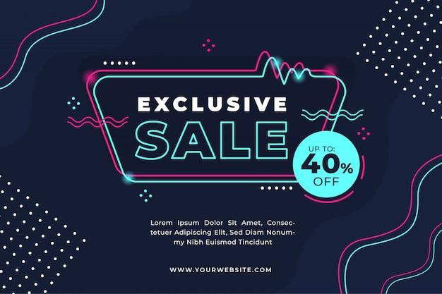Modello di banner di promozione vendita flash