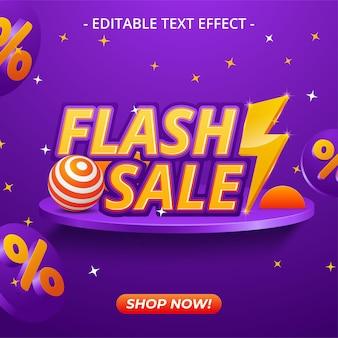 Banner di liquidazione dell'offerta speciale di vendita flash