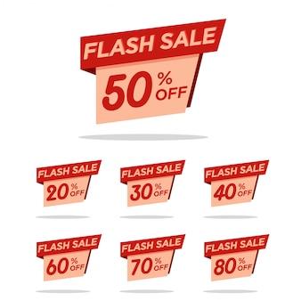 Pacchetto sconto tag vendita flash