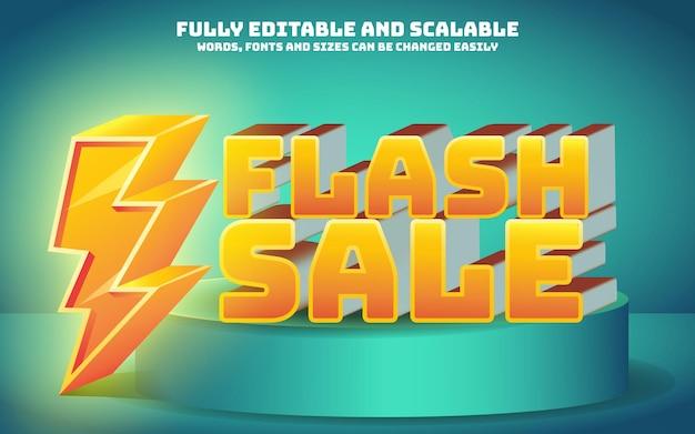 Effetto testo vendita flash modificabile