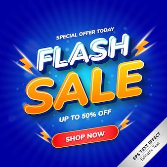 Offerta speciale di effetti di testo flash vendita oggi
