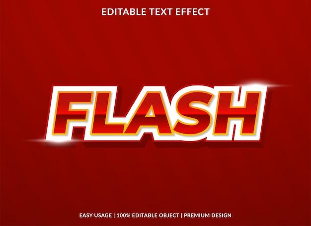 Stile del modello di effetto di testo di vendita flash