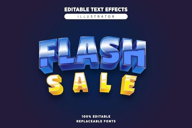 Vendita flash effetto di testo modificabile