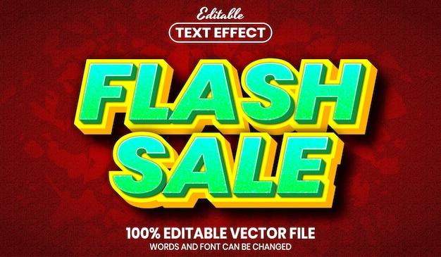 Testo vendita flash, effetto testo modificabile in stile carattere font