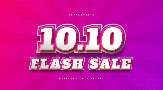 Stile di testo vendita flash con effetto colorato