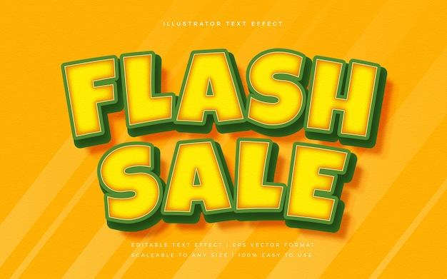 Flash vendita vibrante effetto carattere stile di testo