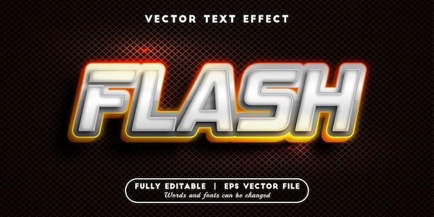 Effetto testo flash, stile di testo modificabile