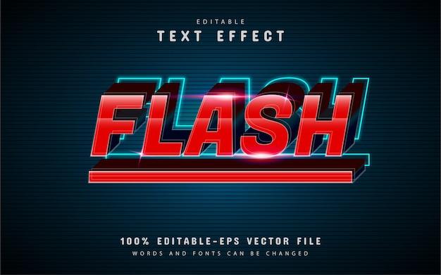 Effetto testo flash con sfumatura rossa
