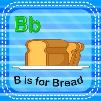 Flashcard lettera b è per il pane