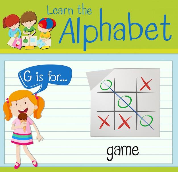 Flashcard lettera g è per il gioco