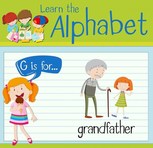 La lettera g di flashcard è per il nonno
