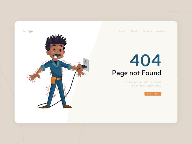 Modello di errore di pagina 404 piatto