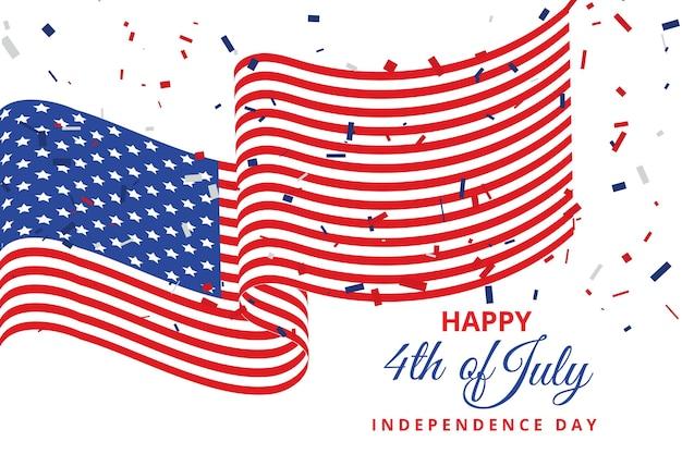 4 ° piatto dell'illustrazione del giorno dell'indipendenza di luglio
