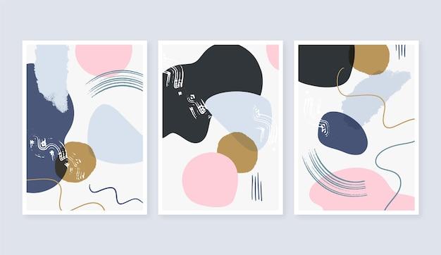 Pacchetto di copertine di arte astratta piatta