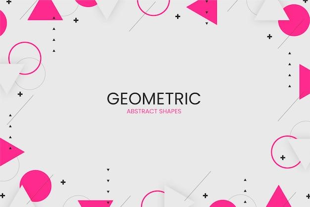Disegno di sfondo geometrico astratto piatto