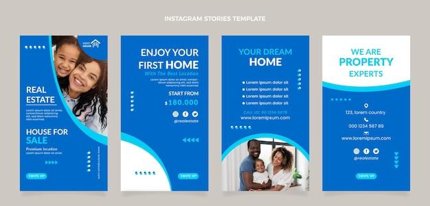 Storie di instagram immobiliari geometriche astratte piatte