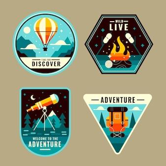 Pacchetto badge avventura piatto