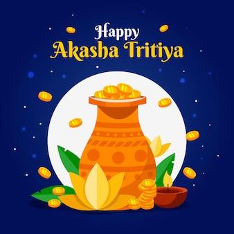 Illustrazione piana di akshaya tritiya