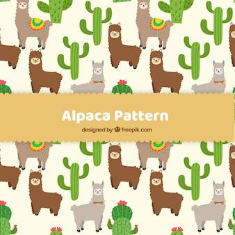 Modello di alpaca piatta