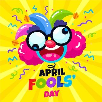 Illustrazione piatta del giorno degli sciocchi di aprile