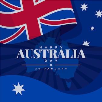 Giorno piatto australia con bandiera