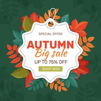Concetto di vendita autunno piatto