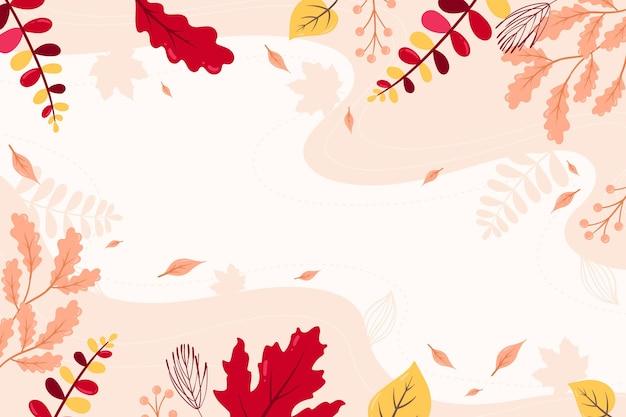 Carta da parati autunno piatto con spazio vuoto