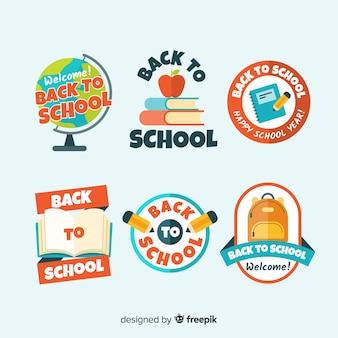 Piatto torna alla collezione di badge scuola