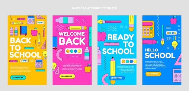 Flat back to school raccolta di storie su instagram