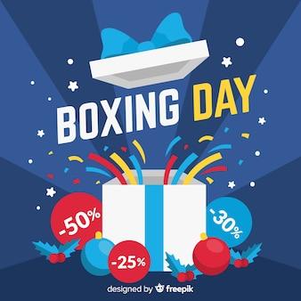 Fondo di vendita di giorno di boxe piatto