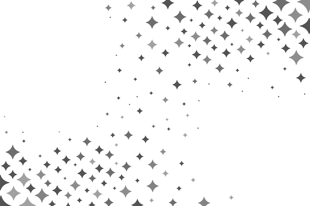 Sfondo di stelle luminose piatte Vettore Premium
