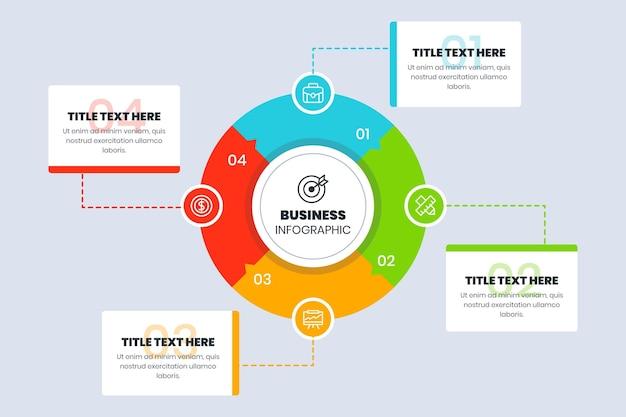 Infografica aziendale piatta