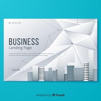 Modello di pagina di destinazione aziendale piatta Vettore Premium