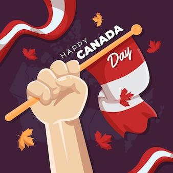 Illustrazione piana di celebrazione del giorno del canada