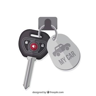 Sfondo chiave auto piatta Vettore Premium
