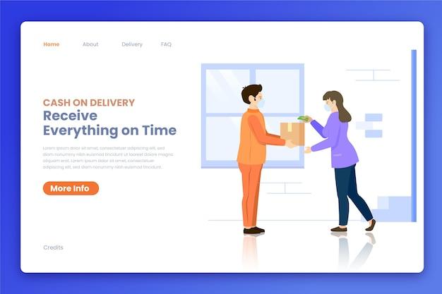 Modello web piatto contanti alla consegna