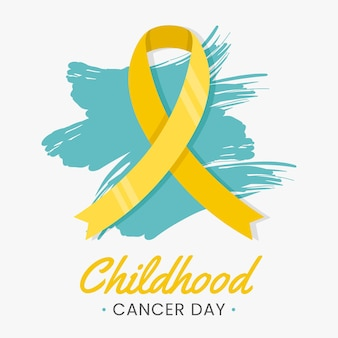 Giornata del cancro infantile piatto