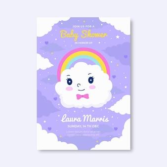 Modello piatto chuva de amor baby shower invito