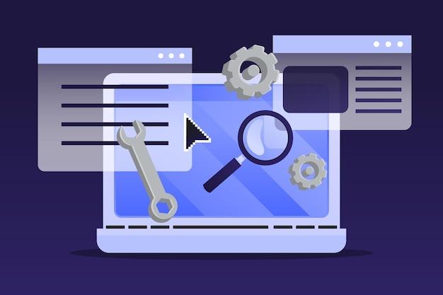 Illustrazione del sistema di gestione dei contenuti piatto