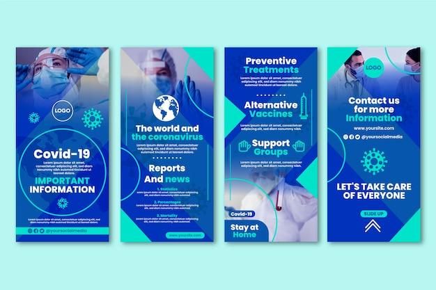 Set di storie instagram piatto coronavirus
