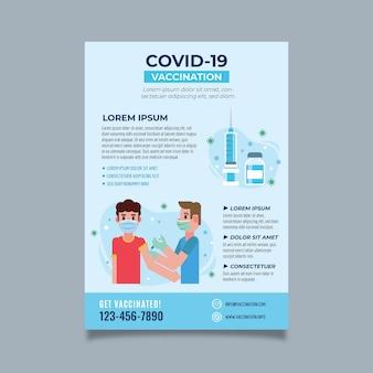 Volantino piatto di vaccinazione contro il coronavirus