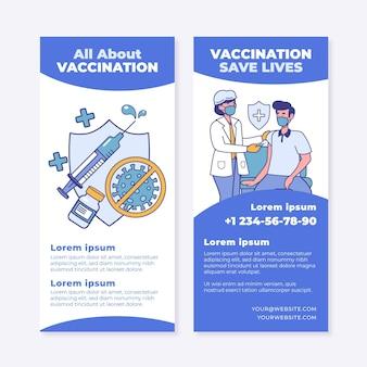 Brochure informativa piatta sulla vaccinazione contro il coronavirus
