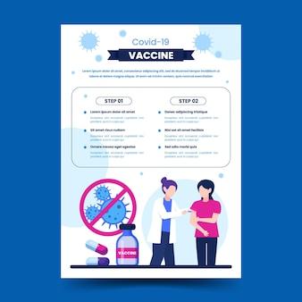 Modello di volantino verticale piatto per la vaccinazione contro il coronavirus