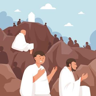 Piatto giorno di arafah celebrazione illustrazione