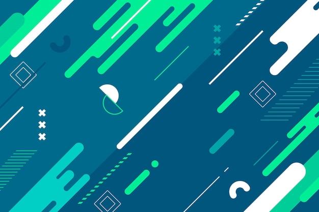 Sfondo dinamico astratto design piatto Vettore Premium