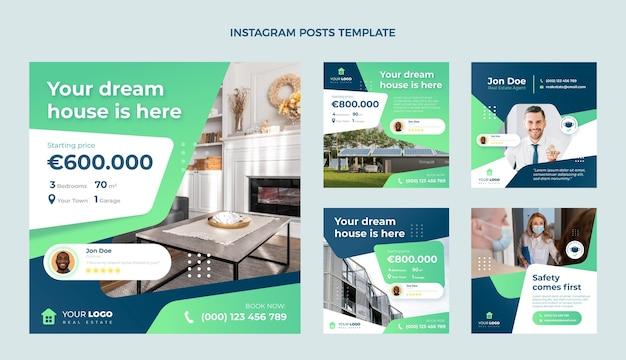 Design piatto astratto geometrico immobiliare ig post