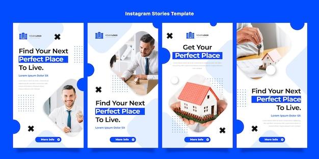Design piatto astratto geometrico immobiliare ig storie
