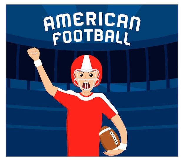 Design piatto del football americano